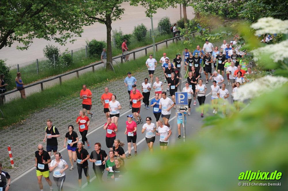 3. Essener Firmenlauf in der Essener Innenstadt am 19.06.2013.